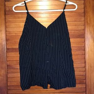 navy blue and white stripped tank top!